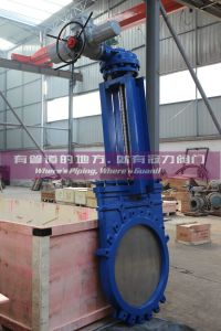 Electric Water Treatment Pulp Powder Knife Gate Valve pictures & photos
