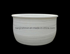 Yellow Marble Carving Stone Bathtub (BTB302) pictures & photos