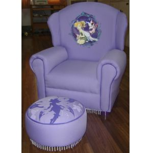 Childs Fairies Chair with Ottoman (XT9-59B)