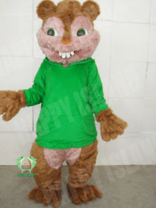 2011 Long-Haired Green Squirrel Adult Cartoon Costume (HI-MC-0368)