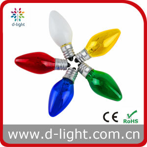 C7 out-Painted Color E12 Candle Bulb