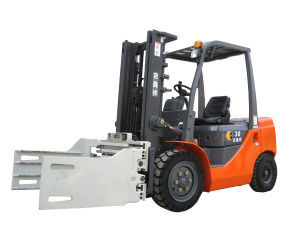 3 Ton Forklift with Paper Roll Clamps pictures & photos