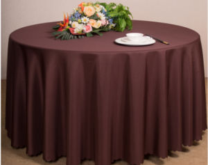 Restaurant or Hotel Used Table Linen Polyester Table Cloth pictures & photos