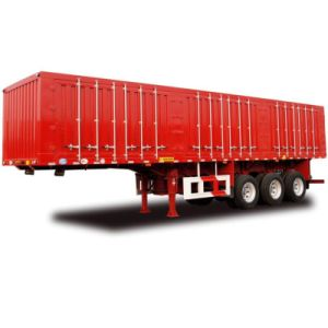 New Arrival Tri-Axle Coal Carrying Box Truck Trailer pictures & photos