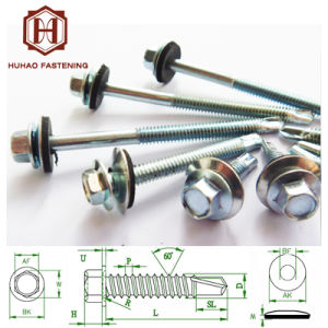 Zinc Plated Hex Head Self-Drilling Screw pictures & photos