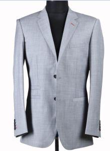 2 Button Light Grey Color Men′s Suit