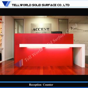 SGS Certificate Acrylic Solid Surface Reception Counter (TW-MART-117) pictures & photos