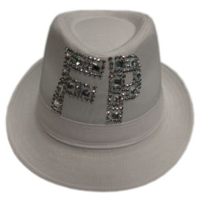 Discount Women Fedora Hat with Band and Crystal Logo pictures & photos