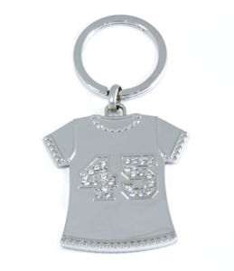 Metal T-Shirt with Engraved 45 Keychain KC053SW