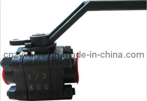 Class800 1/2′′ 3PCS Forged Ball Valve pictures & photos
