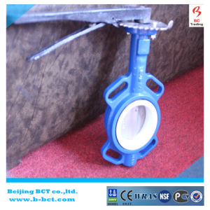 PTFE Sealing Butterfly Valve Centre Line Butterfly Valve Wafer Type Bct-F4bfv-16 pictures & photos