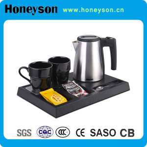 Hotel Small Capacity 0.6 LTR Stainless Steel Electric Kettle with Tea Tray pictures & photos