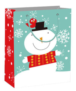 Bulk Cheap Christmas Flocking Gift Paper Bags with Handle pictures & photos