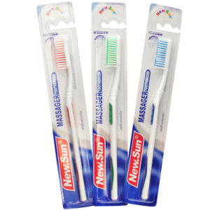 Adult Toothbrush with PS Handle Hot Saling in Brazil pictures & photos