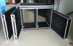 Double 16u Shockproof AMP Rack with Casters pictures & photos