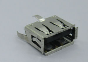 USB a Female Vertical Connector, Extra Short Body, PBT, Black, Alternative for Molex′s pictures & photos