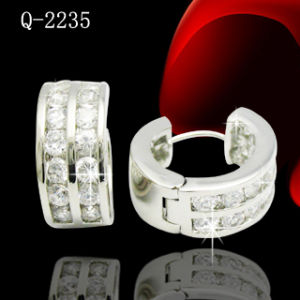 Factory Wholesale Silver Jewelry Earrings Huggies pictures & photos