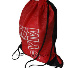 210d Red Polyester Nylon Drawstring Bag Backpack pictures & photos