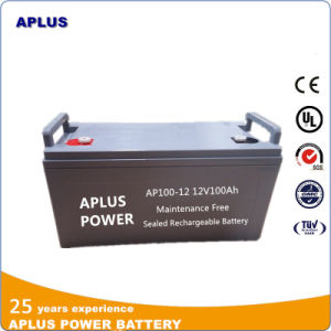 No Maintenance Lead Acid Back up System Batteries 12V 100ah pictures & photos