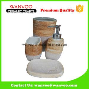 4 PCS Ceramic Bathroom Set with Lotion Dispenser Soap Dish pictures & photos