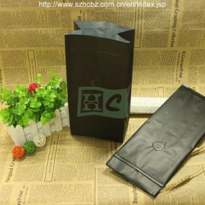 Side Guseet Foil Coffee Bag with Valve Tin Tie