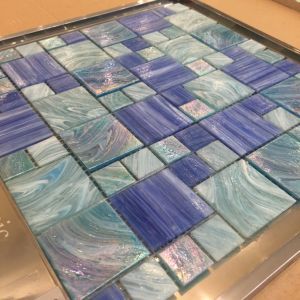 Cloudy Blue Glass Mosaic for Pool (H455001) pictures & photos