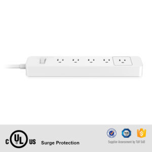OEM Power Strip UL 5 Outlet Extension Power Socket with Surge Protection Fit for Us AC Power Cord pictures & photos