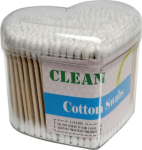 100 PCS Wooden Q-Tips 100% Pure Cotton Stick Swabs Buds pictures & photos
