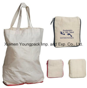 Fashion Customized Eco-Friendly Reusable White Organic Cotton Shopping Tote Bag 38X42cm pictures & photos