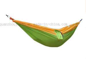 OEM Nylon Outdoor Parachute Camping Bed Hammock with Pocket pictures & photos