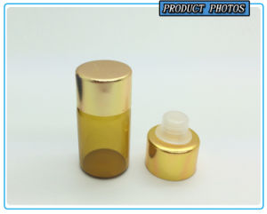 3 Ml Small Amber Glass Essential Oil Bottle with Reducer Plug and Aluminum Cap pictures & photos