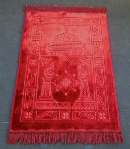 Muslim Prayer Mat Raschel Emboss Prayer Rugs pictures & photos