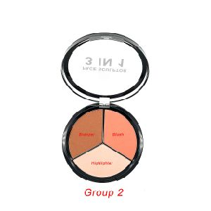 New 3 in 1 Preminium Face Sculptor Palette with Clean Oil Control Bronzer, Super-Blendable Blush, Highlighter pictures & photos