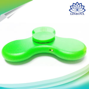 Mix Colors LED Light Fidget Hand Spinner Bluetooth Speaker with ABS Material pictures & photos