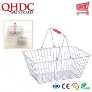 Small Wire Metal Cosmetic Shopping Basket Office Baskets Supermarket Basket for Sale