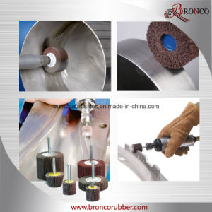 Calcined Alumina Mounted Flap Wheel with Shaft pictures & photos