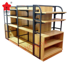 Metal MDF display Shelf (HY-103) pictures & photos