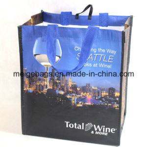 PP Woven Wine Shopper Bag, with Custom Size and Design pictures & photos