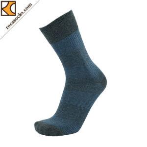 Men′s Fine Variable Striped Cotton Dress Socks (163011SK) pictures & photos