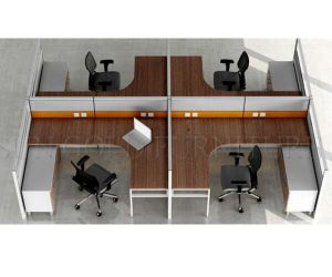 Modular Workstition Wooden Cubicle Computer Table Office Desk (SZ-WS108) pictures & photos