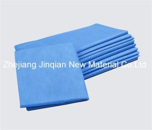 Medical Use 30g Surgical Gown Material SMS Nonwoven Fabric pictures & photos