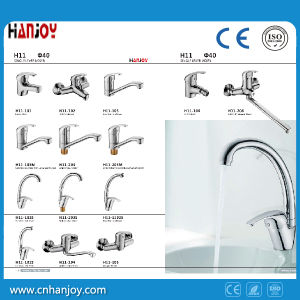 Hot Sale Deck Mounted Single Handle Brass Basin Faucet (H11-101) pictures & photos