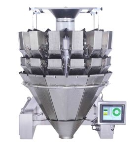 Double Door Dimpled Buckets Multihead Weighing Machine for Frozen Goods pictures & photos