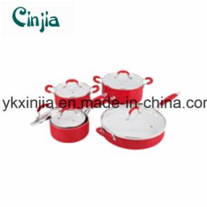 Kitchenware 10PCS Non-Stick Ceramic Cookware Set Xjt09 pictures & photos