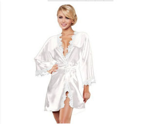 Summer Sexy Bathrobe Lace See Through Transparent Party Lingerie pictures & photos