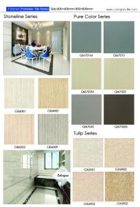 Grey Line Stone Flooring Ceramic Porcelain Polished Tile with 600*600 pictures & photos