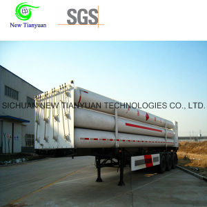Natural Gas Storing and Transporting CNG Cylinder Semi Trailer pictures & photos