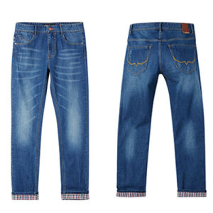 Factory Men Cotton Pants Fashion Denim Jeans for 2017