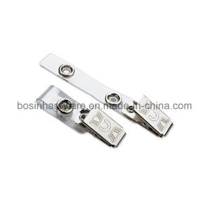 PVC Metal ID Card Clip pictures & photos