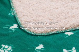 100% Polyester Printed Sherpa Fleece Throw /Baby Blanket pictures & photos